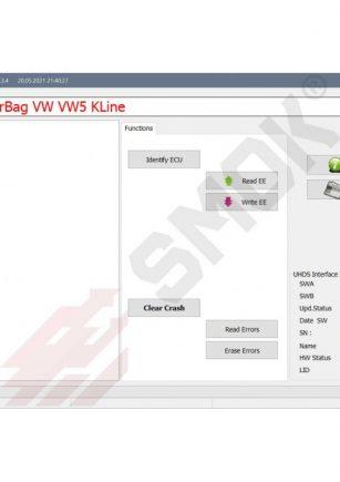 Licenca EU0047 AirBag VW_Seat_Skoda Old Modules VW5_VW51_VW61 (1C0,6Q0,1J0) by module Connector