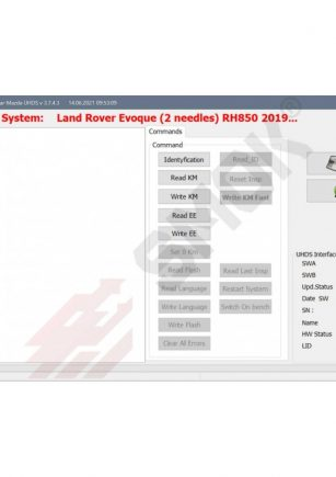 Licenca LR0007 Land Rover Evoque, Discovery, Defender RH850+93c86 (2 needles) 2019-... OBD