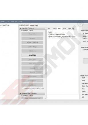 Licenca PT0022 Read PIN in PSA ECU BOSCH EDC17C60, MD1, Valeo V56, Delphi DCM7.1 (by ECU Connector, without open ECU)
